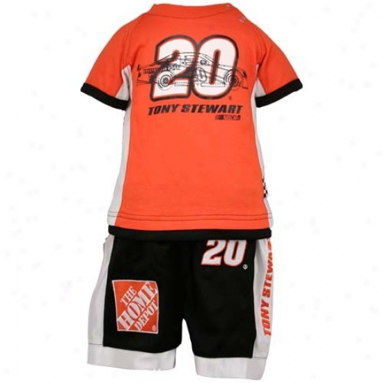 Tony Stewart Orange Toddler Speedway Shorts Sst