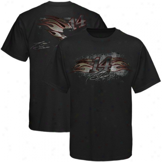 Tony Stewart Shirts : #14 Tony Stewart Black 2010 Additional Shirts