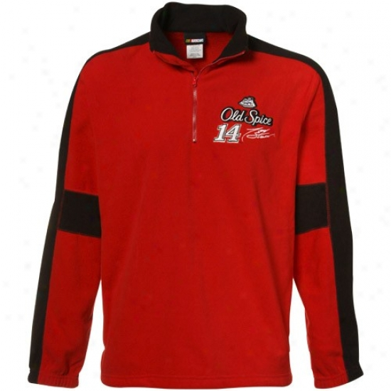 Tony Stewart Sweat Shirts : #14 Tony Stewart Red Hot Pass 1/4 Zip Sweat Shirts