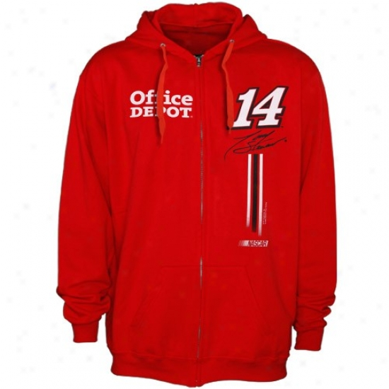 Tony Stewart Swaetshirts : #14 Tony Stewart Red Fuel Tank Full Zip Sweatshirts