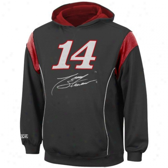 Tony Stewart Sweatsgirts : #14 Tony Stewart Youth Black Clutch Sweatshirts