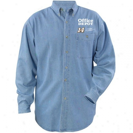 Tony Stewart T-shirt : #14 Tony Stewart Beyond Victory Denim Long Sleeve T-shirt