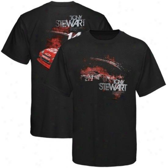 Tony Stewart T Shirt : #14 Tony Stewart Black Chassis T Shirt