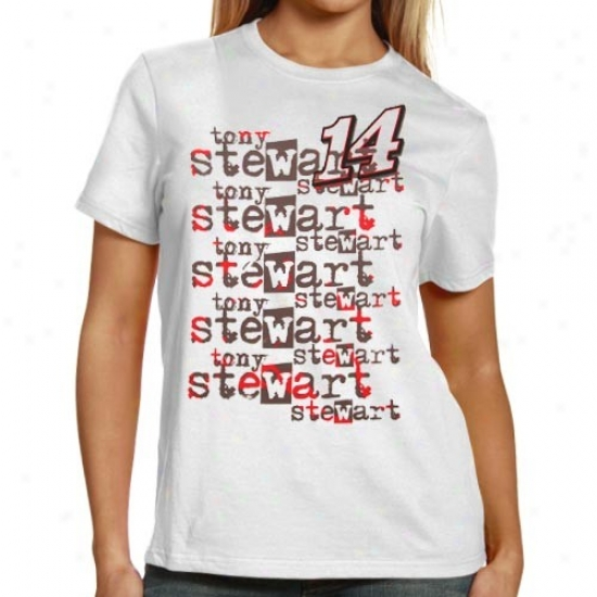 Dunce Stewart T Shirt : #14 Tony Stewart Ladies Happy Repeat Names T Shirt