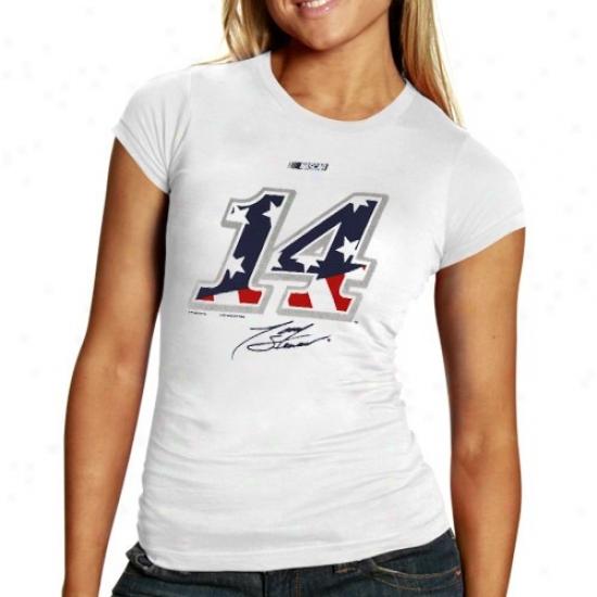 Dunce Stewart T Shirt : #14 Toby Stewart Ladies Pale American Sporit T Shirt