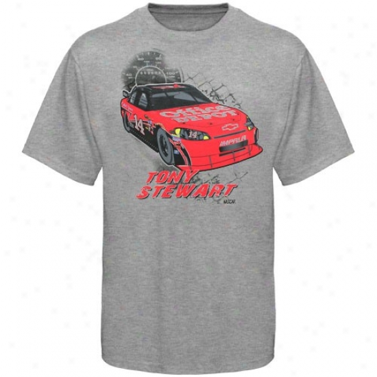 Tony Stewart T-shirt : #14 Tony Stewart Yluth Ash In The Pit T-shirt