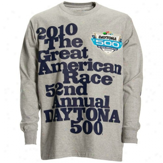 Tony Stewart T-shirt : Nascar Daytona 500 Ash Legendary Victory Long Sleeve T-shirt