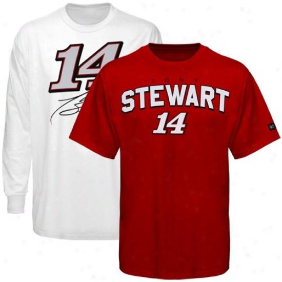 Tony Stewart Tee : #14 Tony Stewarf Red-white 3-in-1 Tee Combo Pack