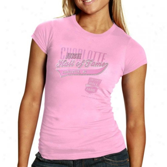 Dunce Stewart Tee : Nascar Ladies Pink Hall Of Fame Slim Fit Tee