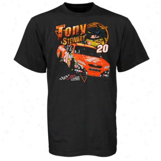 Tony Stewart Tee : Tony Stewart Black Driving Your Thirst Tee