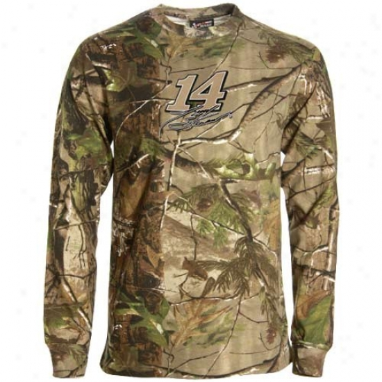 Tony Stewart Tees : #14 Tony Stewart Real Tree Camo Long Sleevee Tees