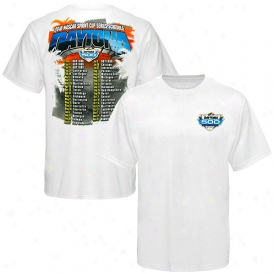 Tony Stewart Tees : Nascar Daytona 500 Schedule Wite Tees