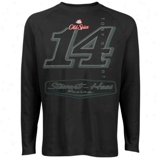 Tony Stewart Tshirt : #14 Tony Stewart Black Premium Thermal Tshirt