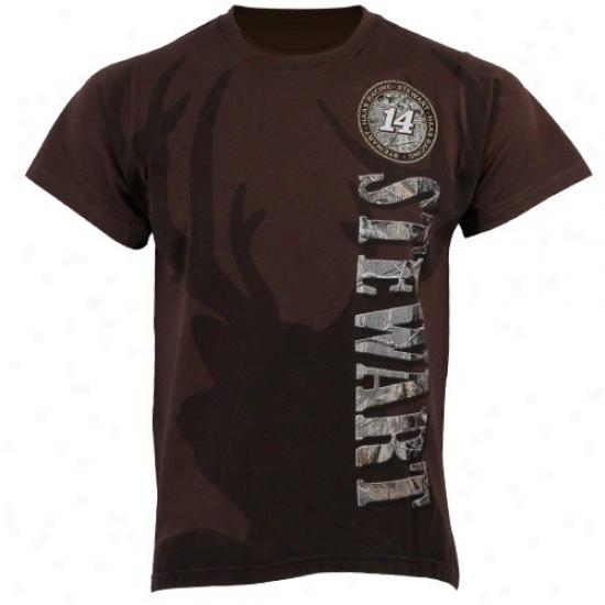 Tony Stewart Tshirt : #14 Tony Stewart Brown Vertical Tshirt