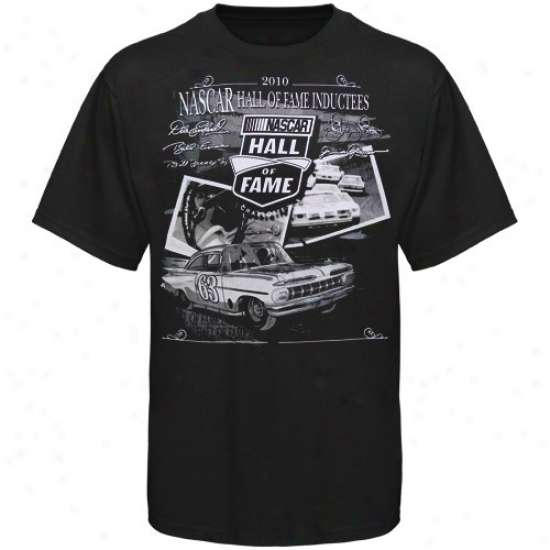 Tony Stewart Tshirt : 2010 Nascar Hall Of Rumor Inductees Tshirt