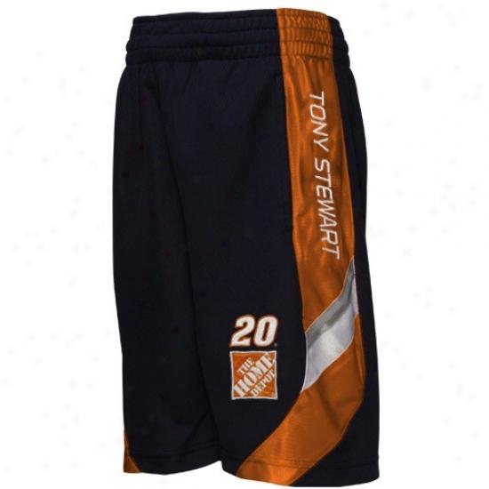Tony Stewart Youth Black Finish Line Mesh Shorts