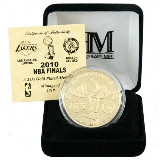 2010 Nba Finals Dueling 24kt Gold Plated Coin