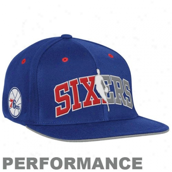 76ers Gear: Adidas 76ers Royal Blue Official Draft Day Fitted Hat