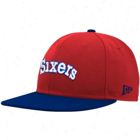 76ers Gear: New Epoch 76ers Red-royal Blue Logp 59fifty Fitted Hat