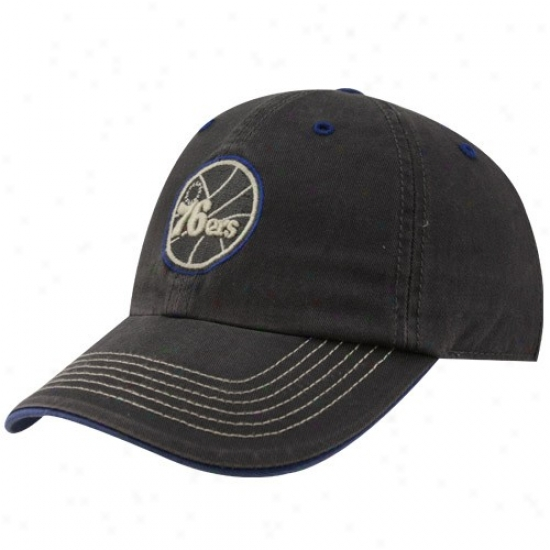 76ers Gezr: Twins '47 76ers Charcoal Careew Franchise Fitted Hat