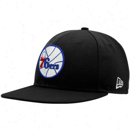 76ers Hat : New Era 76ers Black 59fifty Fitted Hat