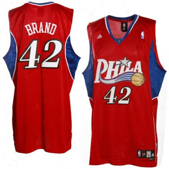 76ers Jerseys : Adidas 76ers #42 Elton Brand Re dSecondary Road Swingman Basketball Jerseys
