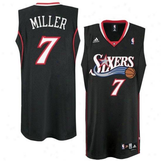 76ers Jerseys : Adidas 76ers #7 Andre Miller Black Swingman Basketball Jerseys