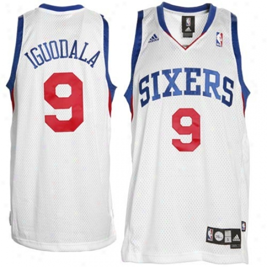 76ers Jerseys : Adidas 76ers #9 Andre Iguodala White Swingman Basketbal Jerseys