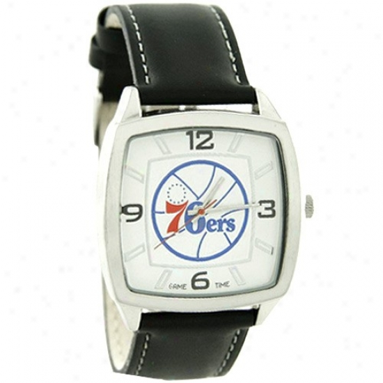 76ers Wrist Watch : 76ers Retro Wrist Watch W/ Leather Company