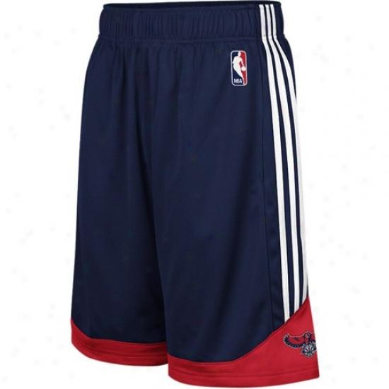 Adidas Atlanta Hawks Navy Blue Pre-game Mesh Basketball Shorfs