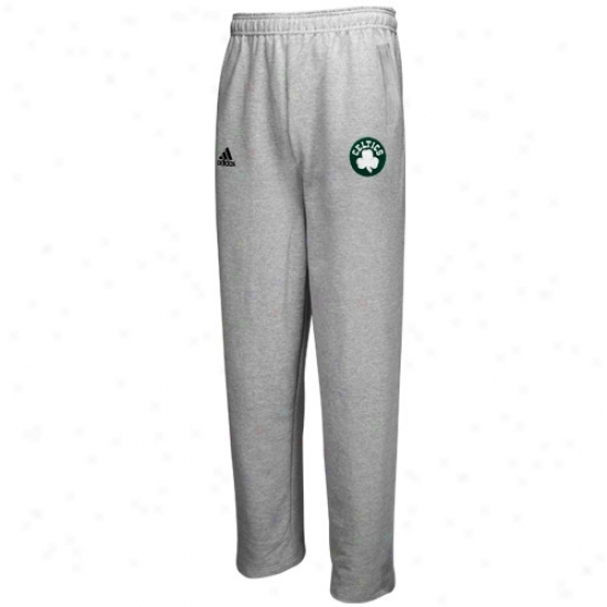 Adidas Boston Celtics Ash Full Color Logo Sweatpants
