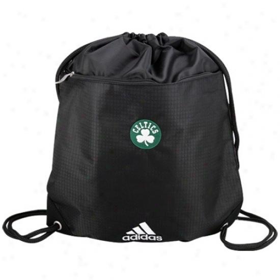 Adidas Boston Celtics Black Nba Logo Gym Sack