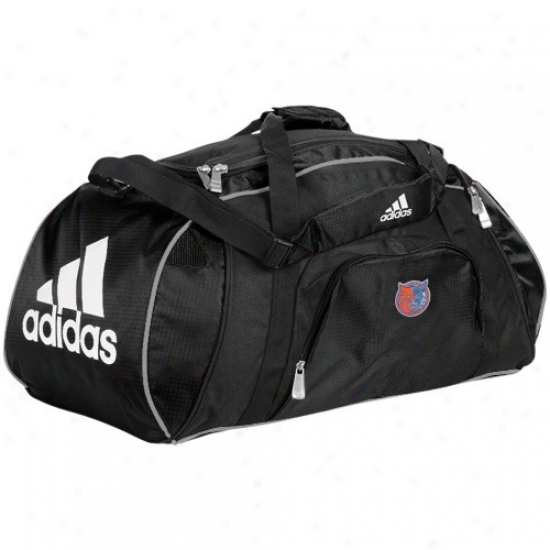 Adidas Charlotte Bobcats Black Team Logo Gym Duffel Bag