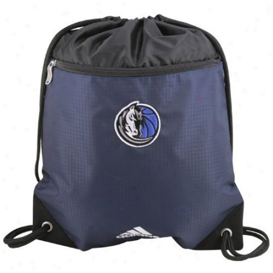 Adidas Dallas Mavericks Navy Blue Nba Logo Gym Sack