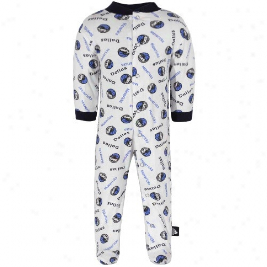 Adidas Dallas Mavericks Newborn Happy Satiated Button Footed Sleeper
