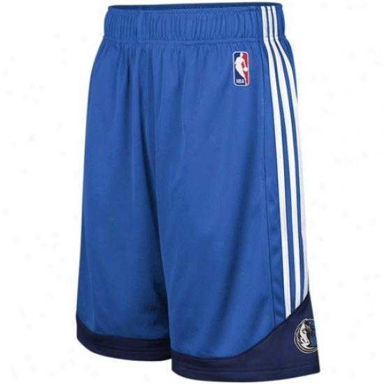 Adidas Dallas Mavericks Royal Blue Pre-game Mesh Basketball Shorts