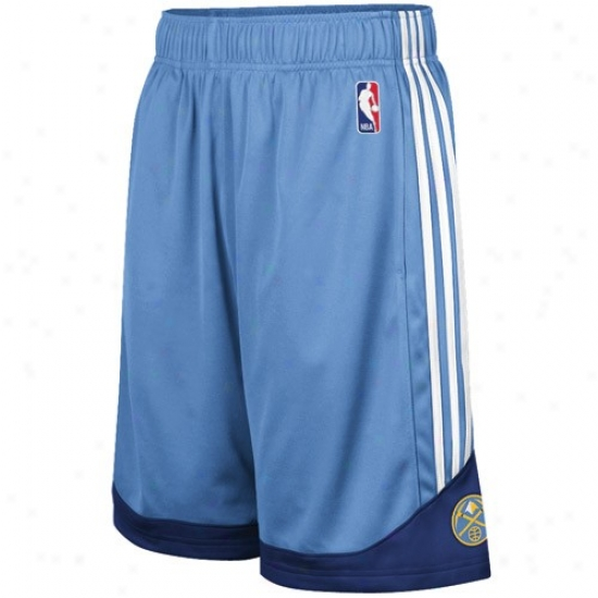 Adidas Denver Nuggets Illumine Blue Pre-game Mesh Basketball Shorts