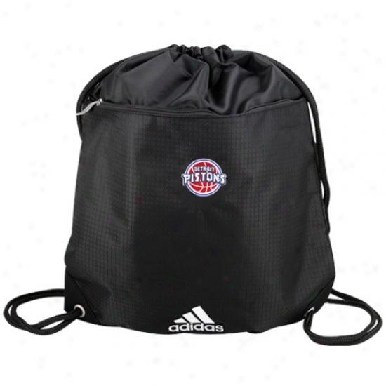 Adixas Detroit Pistons Black Nba Logo Gym Sack