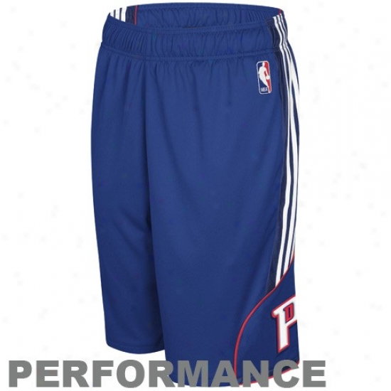 Adidas Detroit Pistons Royal Blue Dream Performance Shorts