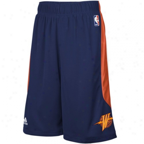 Adidas Golden State Warriors Navy Blue Cb Basketball Shorts