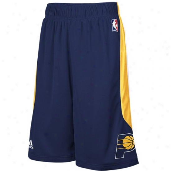 Adidas Indiana Pacers Navy Blue Cb Basketball Shorts