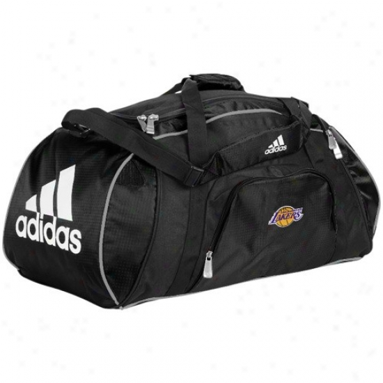 Adidas Los Angeles Lakefs Black Tam Logo Gym Duffel Bag