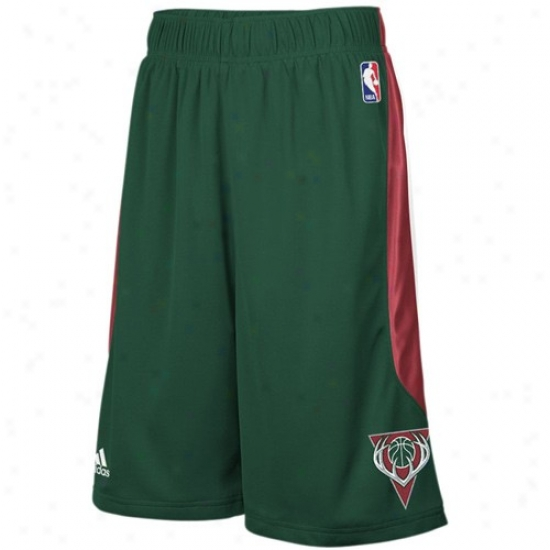 Adidas Milwaukee Bucks Green Cb Basketball Shorts