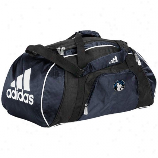 Adidas Minnesota Timberwolves Navy Blue Team Logo Gym Duffel Bag