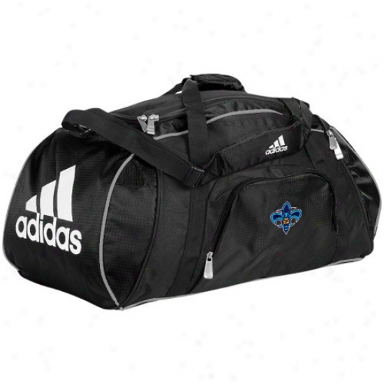 Adidas New Orleans Hornets Black Team Logo Gym Duffel Bag