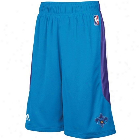 Adidas New Orleans Hornets Creole Blue Cb Basketball Shorrts