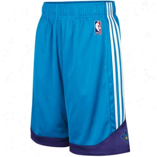 Adidas New Orleans Hornets Creole Blue Pre-game Mesh Basketball Shorts