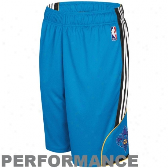 Adidas New Orleanns Hornets Teal Dream Performance Shorts