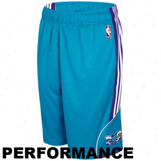 Adidas New Orleans Hornets Youth Creole Blue The Thirty-five Prrformance Basketball Shorts
