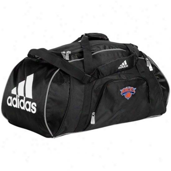 Adidas New York Knicks Black Team Logo Gym Duffel Sack